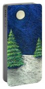 Christmas Trees In The Snow Portable Battery Charger