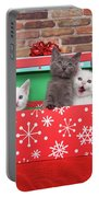 Christmas With Kittens Portable Battery Charger