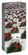 Christmas Wreaths Adorn Headstones Portable Battery Charger