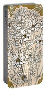Chrysanthemum, Ink Sketch Portable Battery Charger