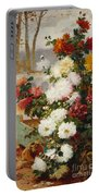 Chrysanthemums In A Walled Garden Portable Battery Charger
