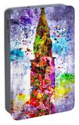 Chrysler Building Colored Grunge Portable Battery Charger