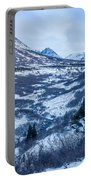 Chugach In Winter Twilight Portable Battery Charger