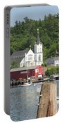 Church In Boothbay Portable Battery Charger