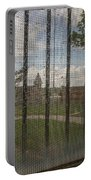 Church In Prison Yard Through Bars Portable Battery Charger