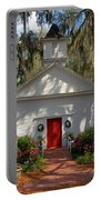 Church In Spring Portable Battery Charger