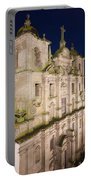 Church Of Saint Lawrence By Night In Porto Portable Battery Charger