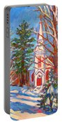 Church Snow Scene Portable Battery Charger