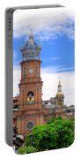 Church Steeples In Puerto Vallarta Portable Battery Charger