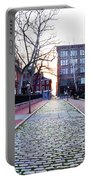 Church Street Cobblestones - Philadelphia Portable Battery Charger by Bill Cannon