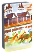 Churchill Downs Watercolor Portable Battery Charger