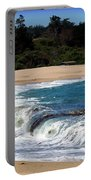 Churning Surf At Monastery Beach Portable Battery Charger