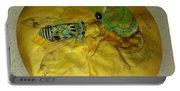 Cicada On Gold Portable Battery Charger