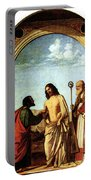 Cima Da Conegliano The Incredulity Of St Thomas With St Magno Vescovo Portable Battery Charger