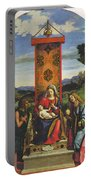 Cima Da Conegliano The Madonna And Child With St John The Baptist And Mary Magdalen Portable Battery Charger