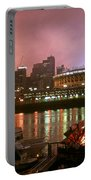 Red Sunset Sky In Cincinnati Ohio Portable Battery Charger