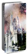 Cinderella's Castle, Fantasy Night Sky, Walt Disney World Portable Battery Charger