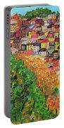 Cinque Terre, Ocean Seascape Art Portable Battery Charger