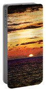 Cinque Terre - Sunset From Manarola - Panorama - Vintage Version Portable Battery Charger