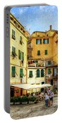 Cinque Terre - Vernazza Main Street - Vintage Version Portable Battery Charger