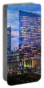 Cira Centre Skyline At Dusk Portable Battery Charger