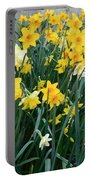 Circle Of Daffodils Portable Battery Charger