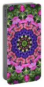 Circle Of Flowers Portable Battery Charger