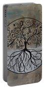 Circular Tree Of Life  Portable Battery Charger