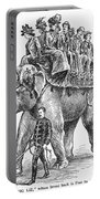Circus: Elephant, C1901 Portable Battery Charger