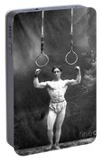 Circus Strongman, 1885 Portable Battery Charger