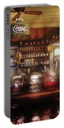 City - Ny 77 Water Street - The Candy Store Portable Battery Charger by Mike Savad