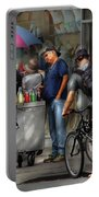 City - Ny Delancy St - Getting A Snowcone  Portable Battery Charger
