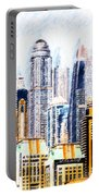 City Abstract Portable Battery Charger by Chris Armytage