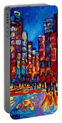 City After The Rain Portable Battery Charger