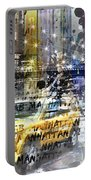 City-art Nyc Collage Portable Battery Charger