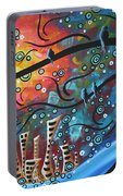 City By The Sea By Madart Portable Battery Charger