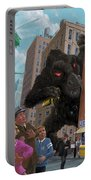 City Invasion Furry Monster Portable Battery Charger by Martin Davey