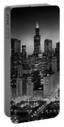 City Light Chicago B W Portable Battery Charger