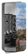 City - New York Ny - Fraunce's Tavern 1890 - Side By Side Portable Battery Charger