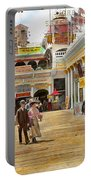 City - Ny - The Great Steeplechase 1903 Portable Battery Charger