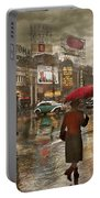 City - Ny - Times Square On A Rainy Day 1943 Portable Battery Charger
