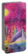 City Of Dubai Pop Art Original Luxe Life Painting By Madart Portable Battery Charger