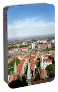 City Of Gdansk Aerial View Portable Battery Charger