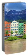 City Of Innsbruck Colorful Inn River Waterfront Panorama Portable Battery Charger