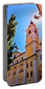 City Of Ljubljana Church And Square View Portable Battery Charger