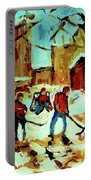 City Of Montreal Hockey Our National Pastime Portable Battery Charger