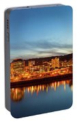 City Of Portland Skyline Blue Hour Panorama Portable Battery Charger