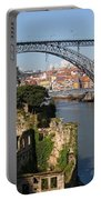 City Of Porto In Portugal Picturesque Scenery Portable Battery Charger