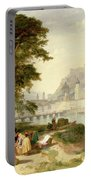 City Of Salzburg Portable Battery Charger by Philip Hutchins Rogers