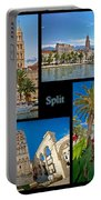 City Of Split Nature And Architecture Collage Portable Battery Charger